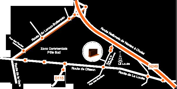 Plan d'accès à Activ Expo à Haute Goulaine