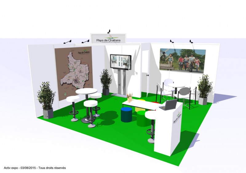 Stands modulaires activ expo stands portables for Stand modulaire